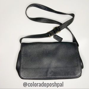 Vintage Coach Black Leather Pebbled Sonoma Purse